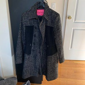 Betsy Johnson Tweed Houndstooth Wool Jacket Size 8